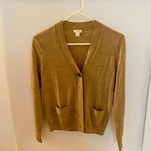 J. Crew Brown cardigan Small